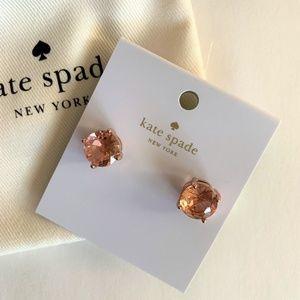 Kate Spade Gumdrop Stud Round Cut Earrings ~ Peach